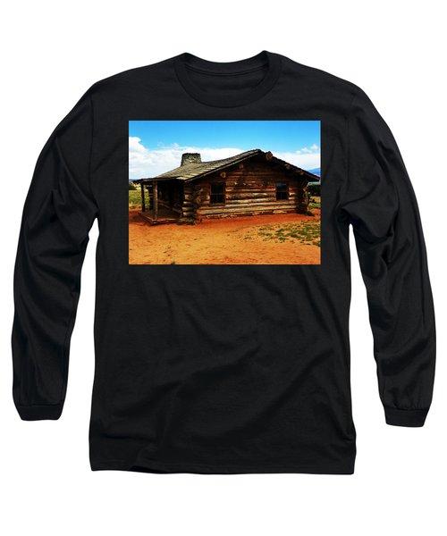 Log Cabin Yr 1800 Long Sleeve T-Shirt by Joseph Frank Baraba