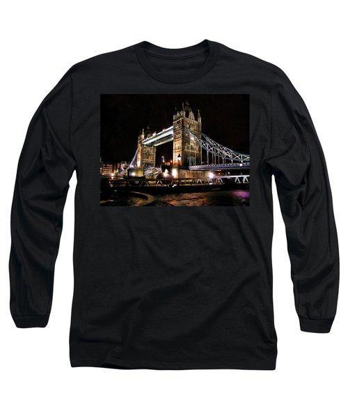London Bridge At Night Long Sleeve T-Shirt