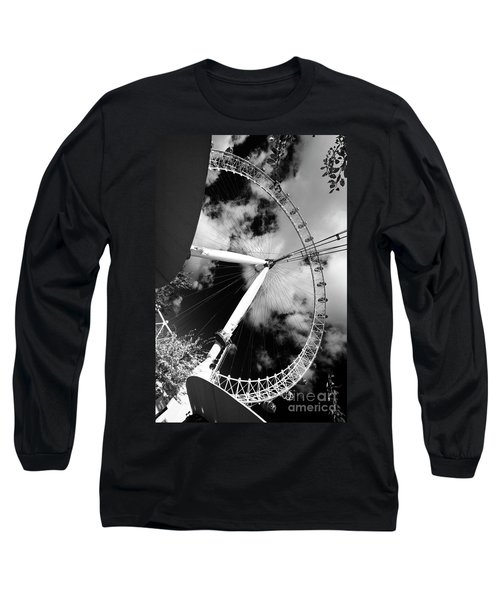 London Ferris Wheel Bw Long Sleeve T-Shirt