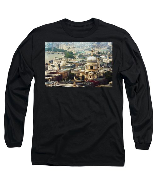 London Rooftops Long Sleeve T-Shirt by Judi Saunders