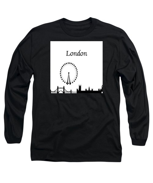 London Skyline Outline Long Sleeve T-Shirt