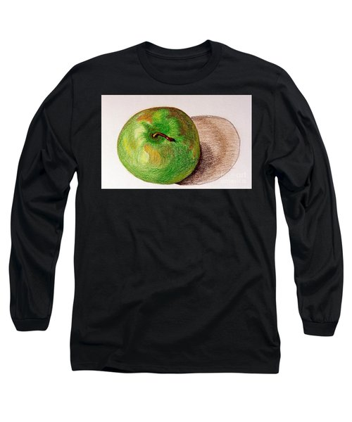 Lone Apple Long Sleeve T-Shirt by Sheron Petrie