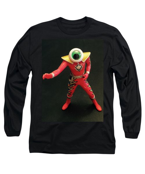 Long Sleeve T-Shirt featuring the sculpture Lone Eye Ranger by Douglas Fromm