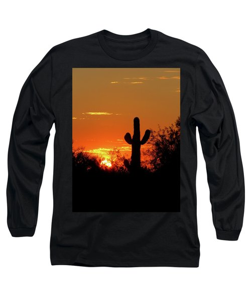 Lone Saguaro Sunrise Long Sleeve T-Shirt