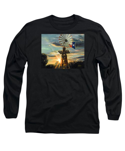 Lone Star Sky Long Sleeve T-Shirt by Doug Kreuger