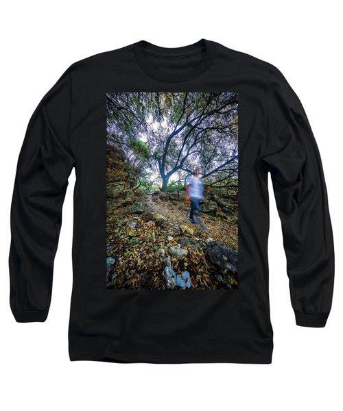 Long Exposure Peddernales Falls State Park Hike Long Sleeve T-Shirt by Micah Goff
