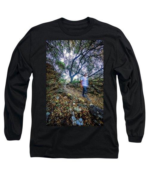 Long Exposure Peddernales Falls State Park Hike Long Sleeve T-Shirt