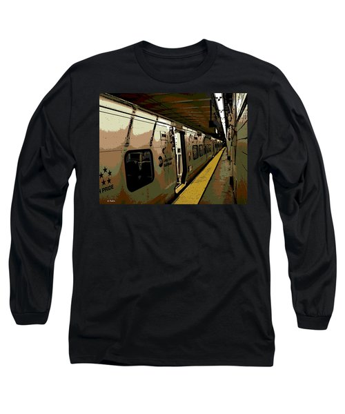 Long Island Railroad Long Sleeve T-Shirt by George Pedro