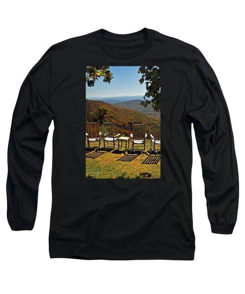 Relax And Enjoy Long Sleeve T-Shirt by Kay Lovingood