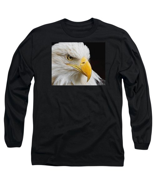 Look Of The Eagle Long Sleeve T-Shirt by Ernie Echols