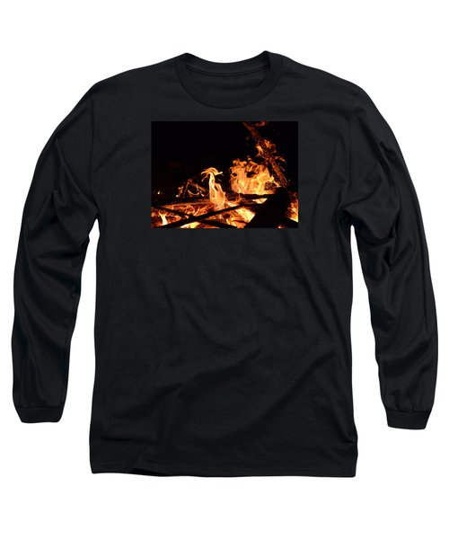 Looking Long Sleeve T-Shirt by Janet  Dagenais Rockburn