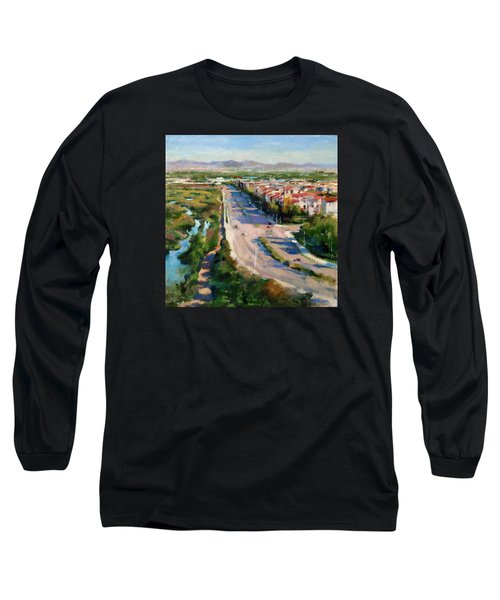 Los Angeles - Playa Vista From South Bluff Trail Road Long Sleeve T-Shirt