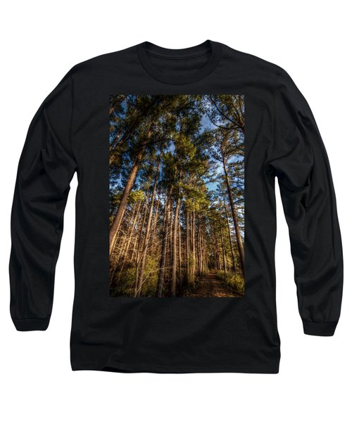 Lost In The Woods Long Sleeve T-Shirt by Linda Unger