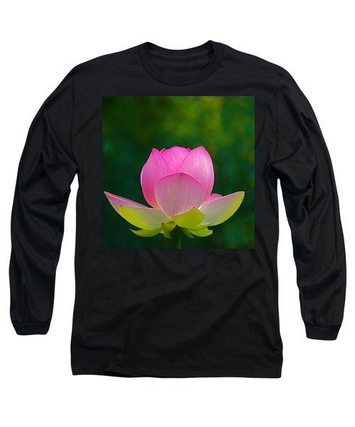 Long Sleeve T-Shirt featuring the photograph Lotus Blossom 842010 by Byron Varvarigos