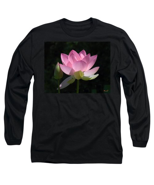 Lotus Bud--snuggle Bud Dl005 Long Sleeve T-Shirt