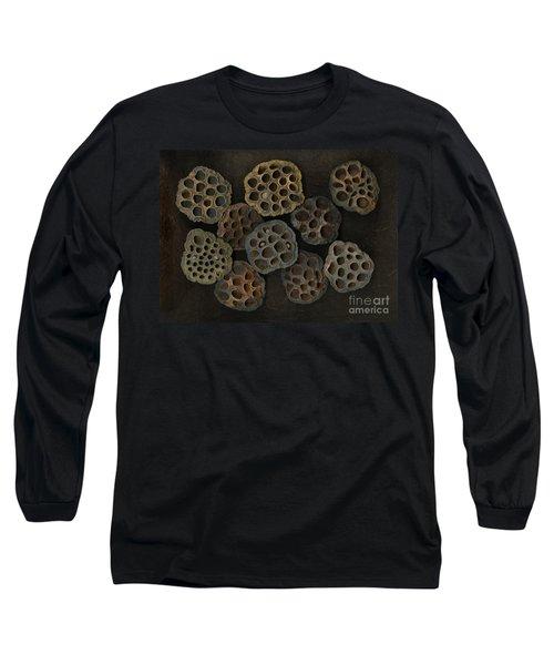 Lotus Pods Long Sleeve T-Shirt by Christian Slanec