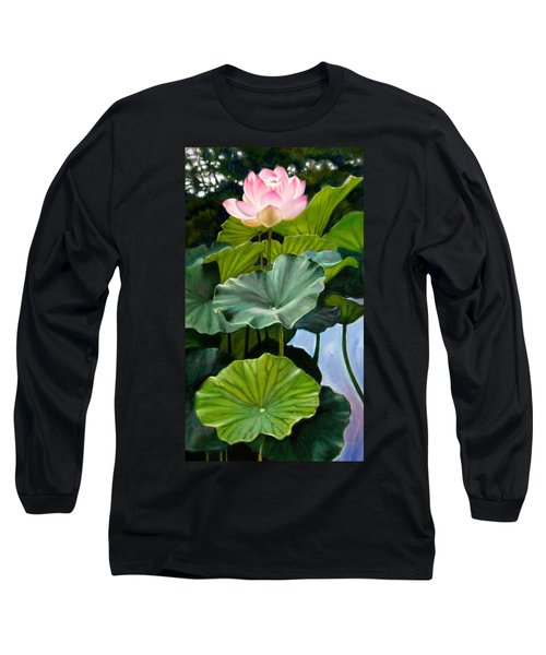 Lotus Rising Long Sleeve T-Shirt by John Lautermilch