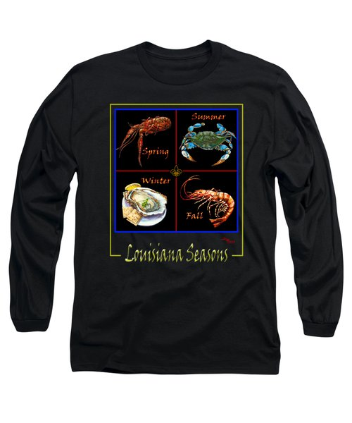 Louisiana Seasons Long Sleeve T-Shirt by Dianne Parks