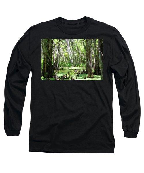 Louisiana Swamp Long Sleeve T-Shirt by Inspirational Photo Creations Audrey Woods