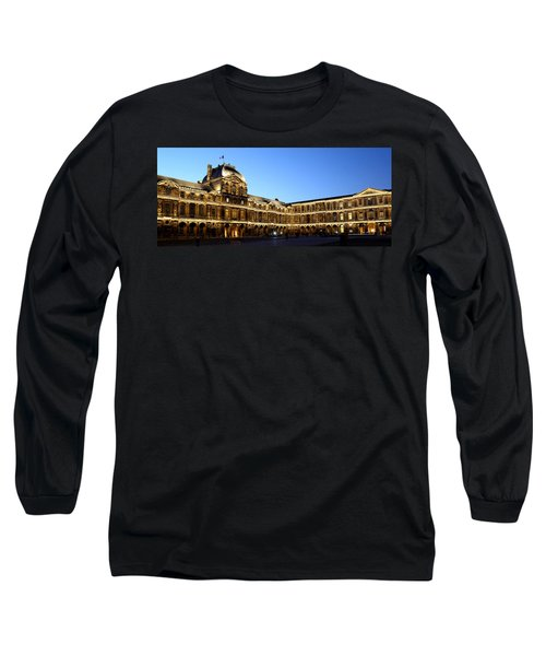 Long Sleeve T-Shirt featuring the photograph Louvre At Night 1 by Andrew Fare