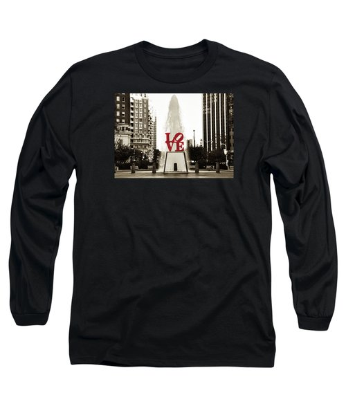 Long Sleeve T-Shirt featuring the photograph Love In Philadelphia by Bill Cannon