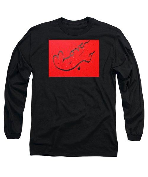 Love In Red By Faraz Long Sleeve T-Shirt by Faraz Khan