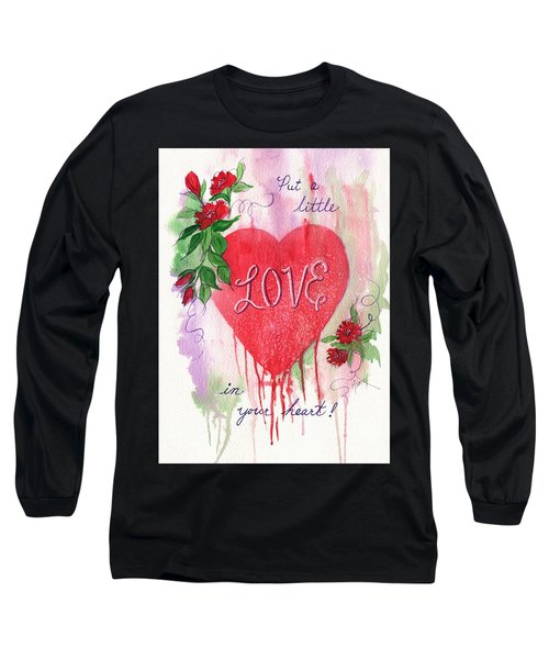 Long Sleeve T-Shirt featuring the painting Love In Your Heart by Marilyn Smith