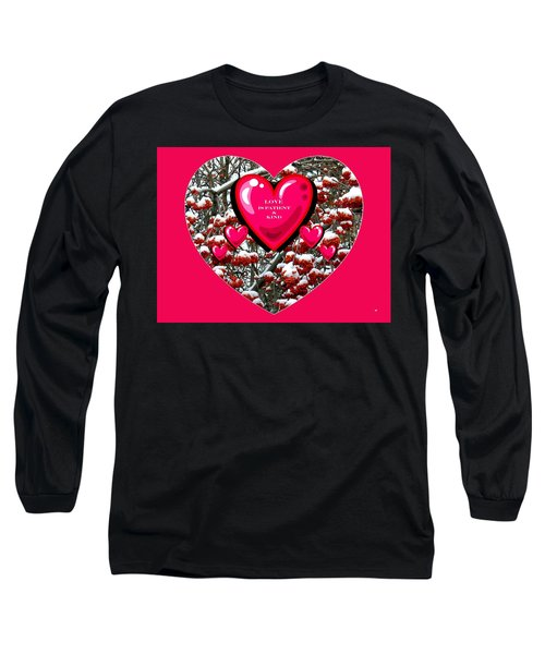 Long Sleeve T-Shirt featuring the digital art Love Is Patient And Kind by Will Borden