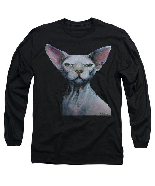 Love Sphynx Cat Long Sleeve T-Shirt by Akiko Okabe
