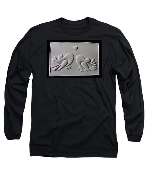 Long Sleeve T-Shirt featuring the relief Love by Suhas Tavkar