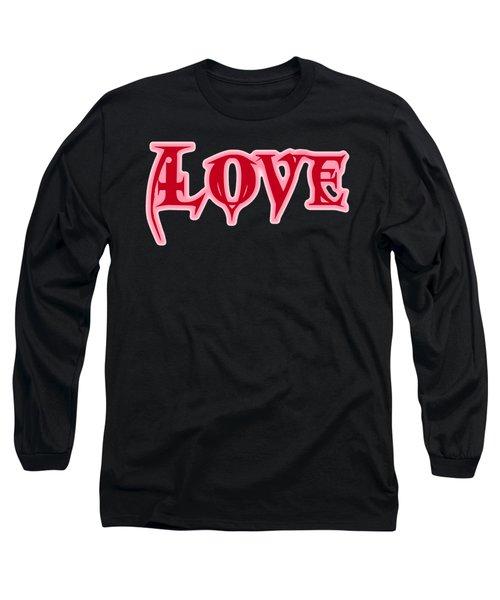 Love Text Long Sleeve T-Shirt