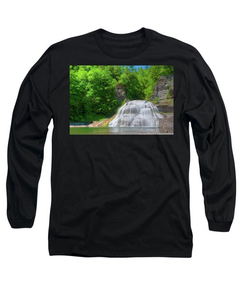 Long Sleeve T-Shirt featuring the photograph Lower Falls 0485 by Guy Whiteley