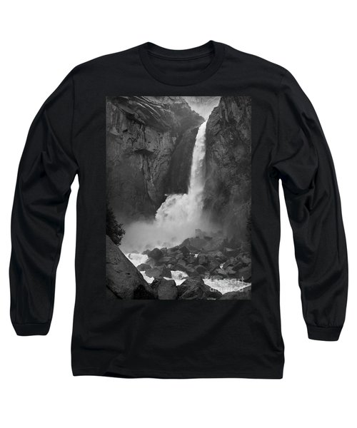 Long Sleeve T-Shirt featuring the photograph Lower Yosemite Falls by Martin Konopacki