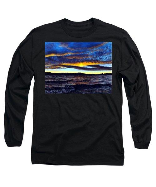 Lucerne Sunset Long Sleeve T-Shirt by Linda Becker