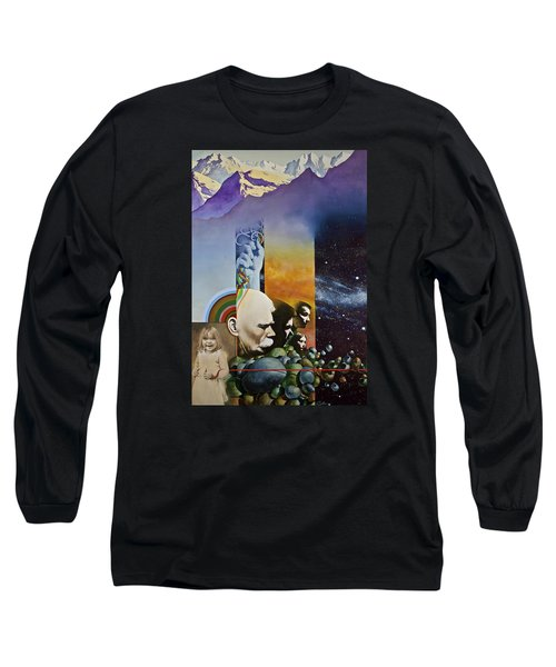 Lucid Dimensions Long Sleeve T-Shirt by Cliff Spohn