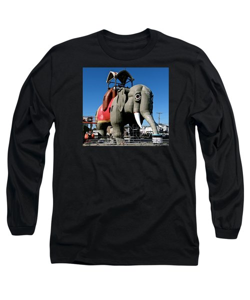 Lucy The Elephant Long Sleeve T-Shirt by Ira Shander
