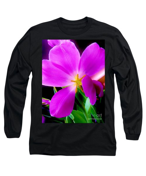 Luminous Tulips Long Sleeve T-Shirt by Tim Townsend
