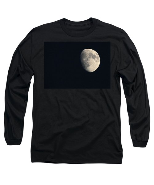 Lunar Surface Long Sleeve T-Shirt by Angela Rath