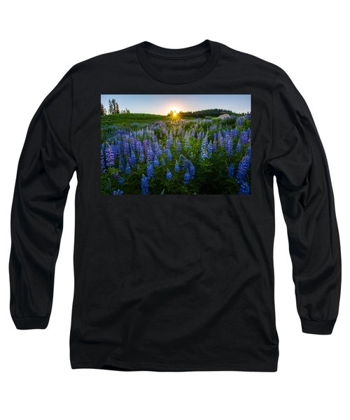 Lupine Meadow Long Sleeve T-Shirt by Dustin  LeFevre