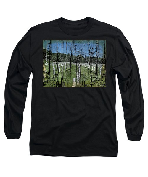 Luxembourg Wwii Memorial Cemetery Long Sleeve T-Shirt by Joseph Hendrix