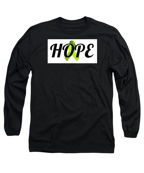 Lyme Awareness Ribbon Of Hope Long Sleeve T-Shirt by Laura Michelle Corbin