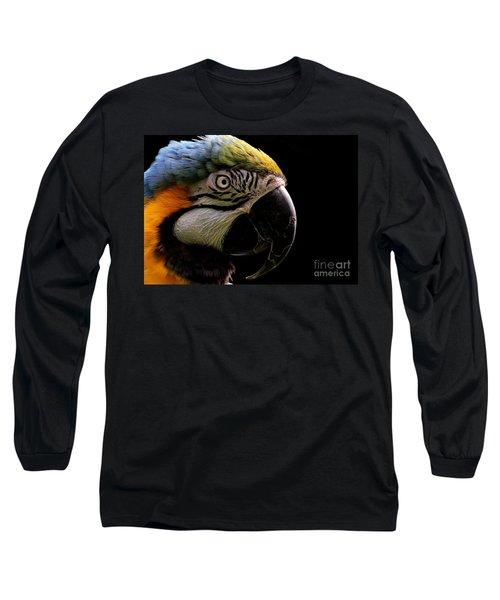 Macaw Parrot Portrait Long Sleeve T-Shirt
