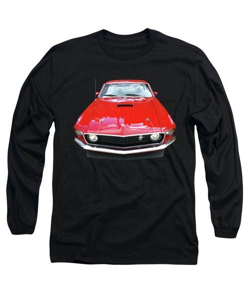 Mach1 Mustang 1969 Head On Long Sleeve T-Shirt