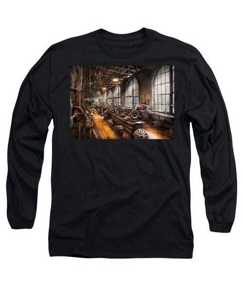 Machinist - A Room Full Of Lathes  Long Sleeve T-Shirt