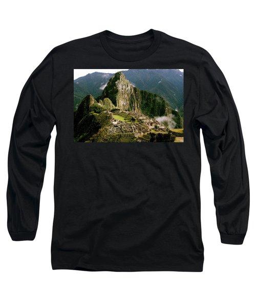 Machu Picchu At Sunrise Long Sleeve T-Shirt