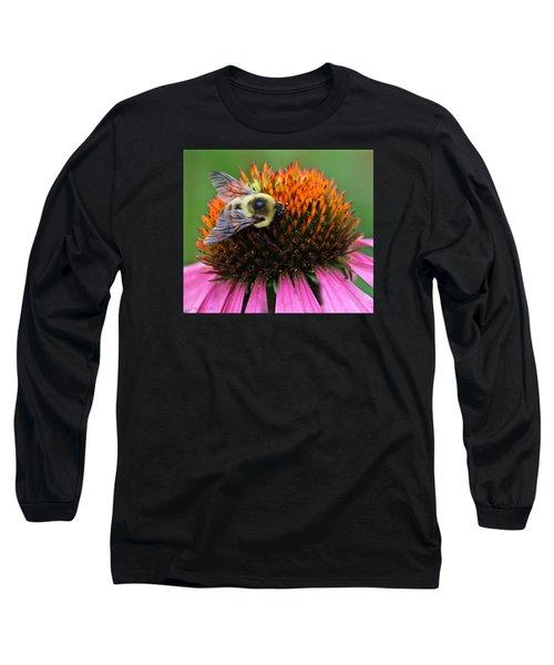 Macro Bee Long Sleeve T-Shirt by Debra     Vatalaro