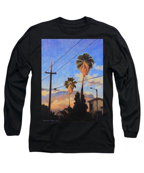 Madison Ave Sunset Long Sleeve T-Shirt by Andrew Danielsen