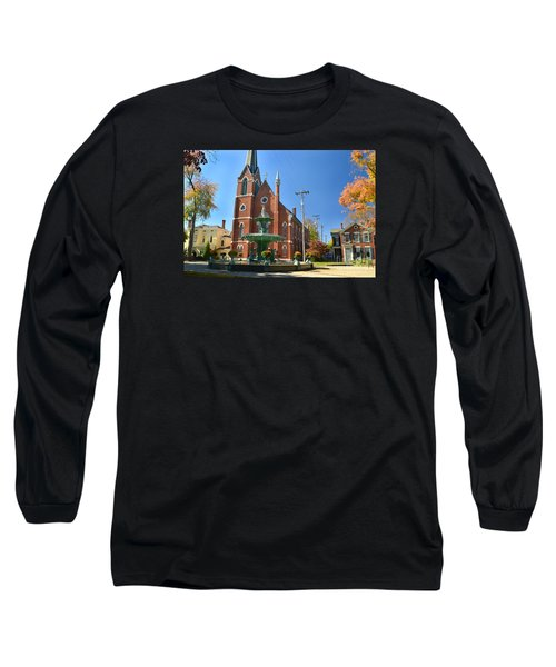 Madison Church And Water Fountain Long Sleeve T-Shirt