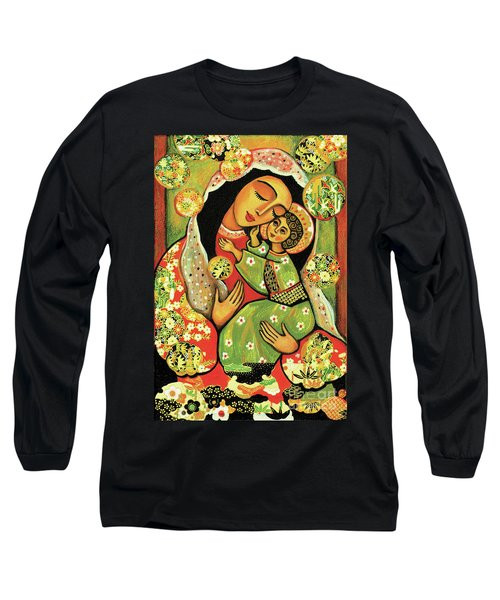 Madonna And Child Long Sleeve T-Shirt by Eva Campbell