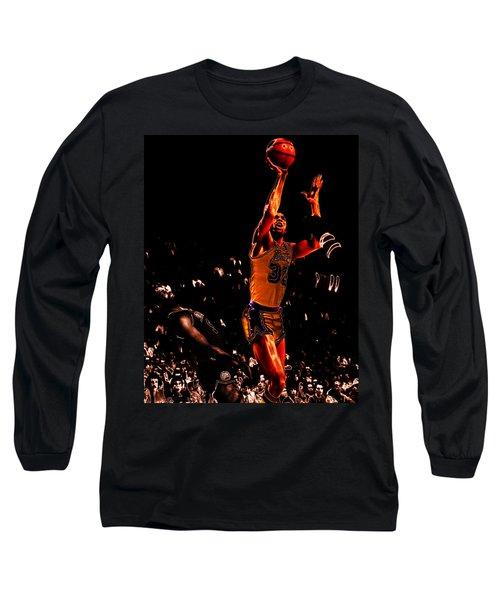 Magic Johnson Lean Back II Long Sleeve T-Shirt by Brian Reaves